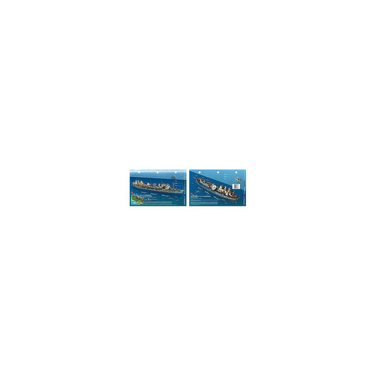 Vandenberg in Key West, Florida (8.5 x 5.5 Inches) (21.6 x 15cm) - New Art to Media Underwater Waterproof 3D Dive Site Map