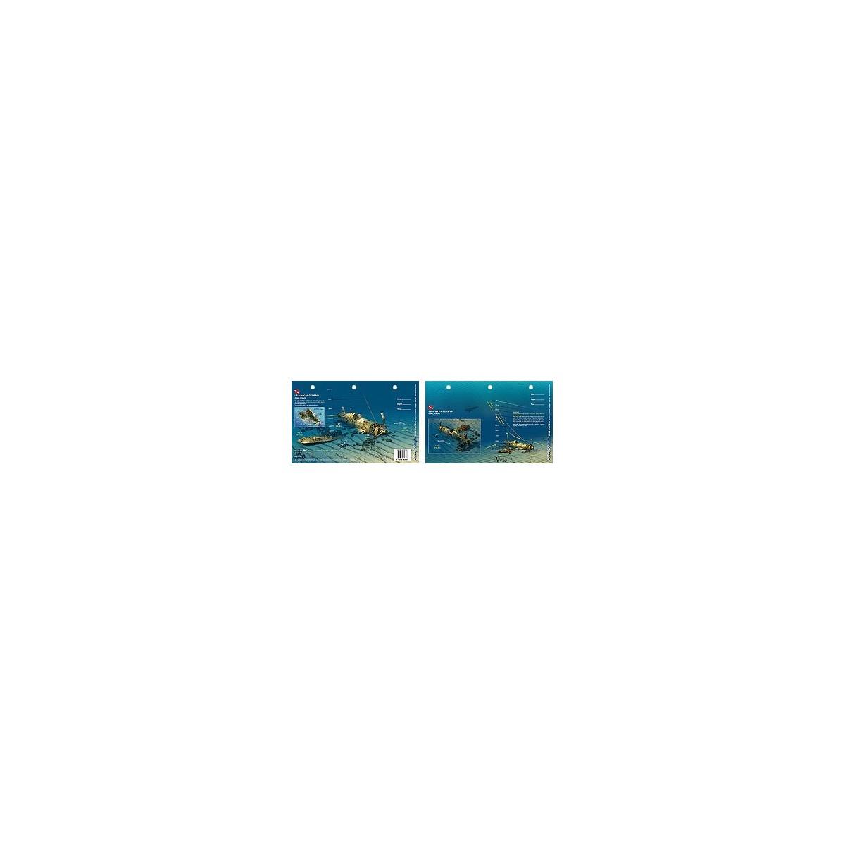 Corsair in Oahu, Hawaii (8.5 x 5.5 Inches) (21.6 x 15cm) - New Art to Media Underwater Waterproof 3D Dive Site Map