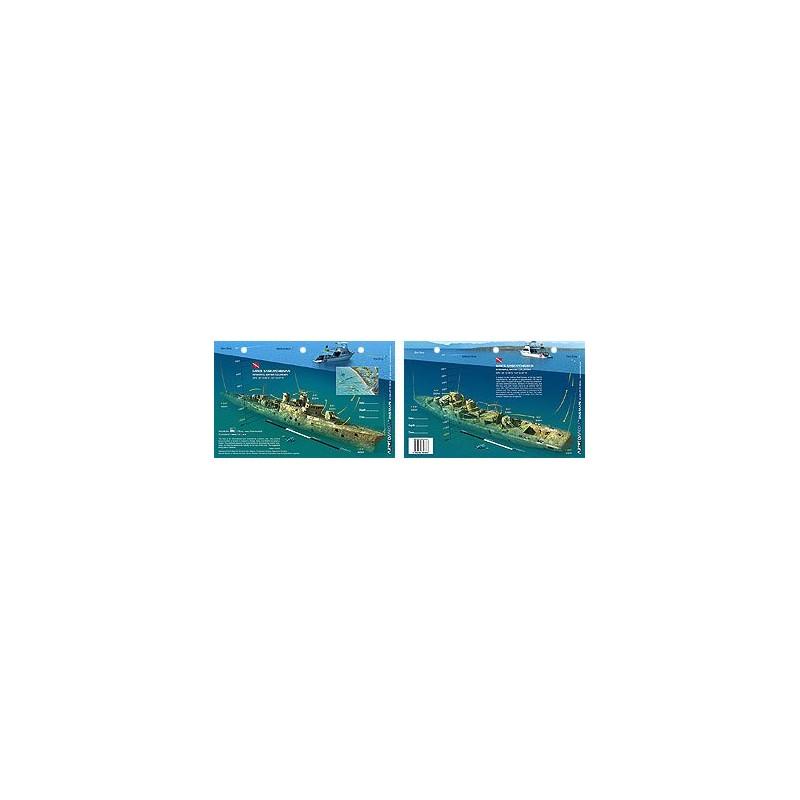 HMCS Saskatchewan in Nanaimo, British Columbia, Canada (8.5 x 5.5 Inch) - New Art to Media Underwater Waterproof 3D Dive Site Ma