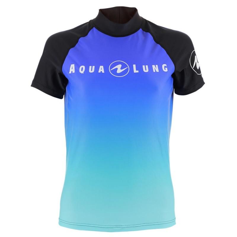 Aqua Lung Men's Short Sleeve Athletic Fit Rashguard